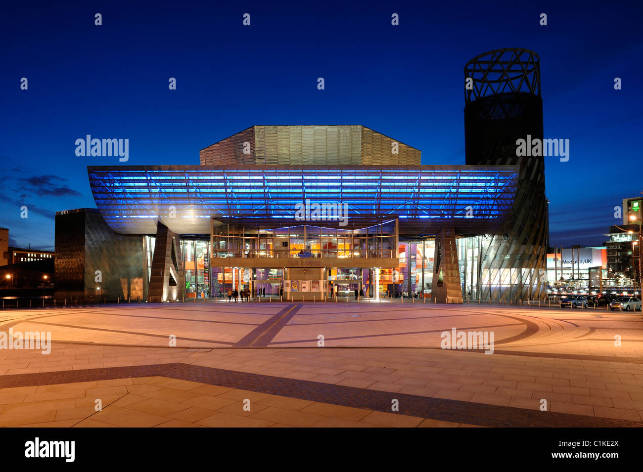 The Lowry Theatre Salford Quays - Stock Image