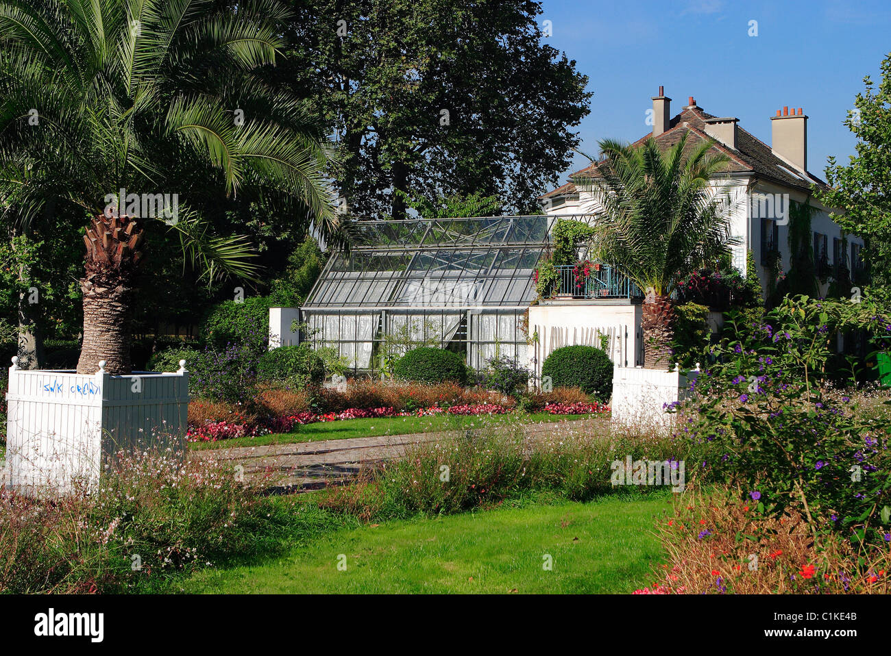 France, Paris, house of the gardening in the Park of Bercy Stock Photo