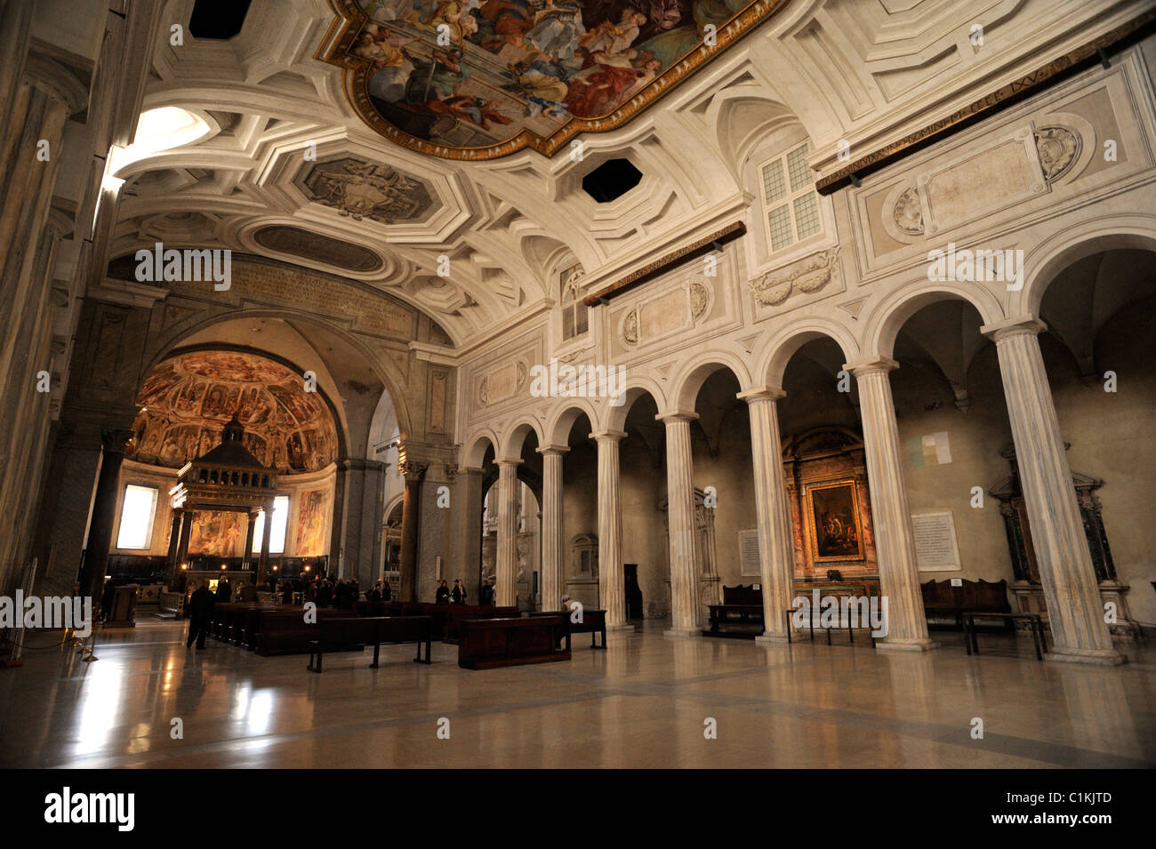 Italy, Rome, basilica of San Pietro in Vincoli (St. Peter in Chains) Stock Photo