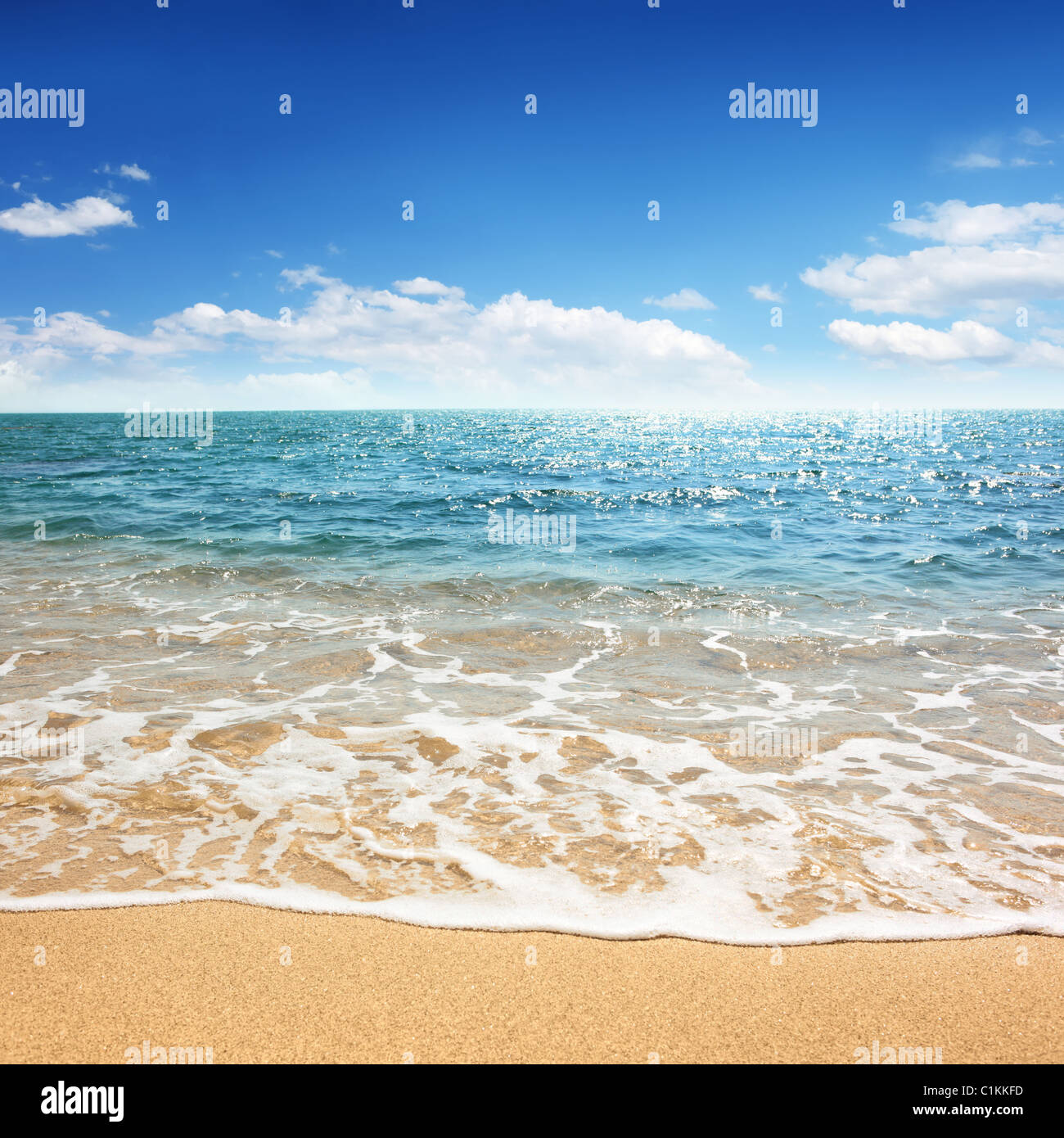 beach and tropical sea for use as background - Stock Image
