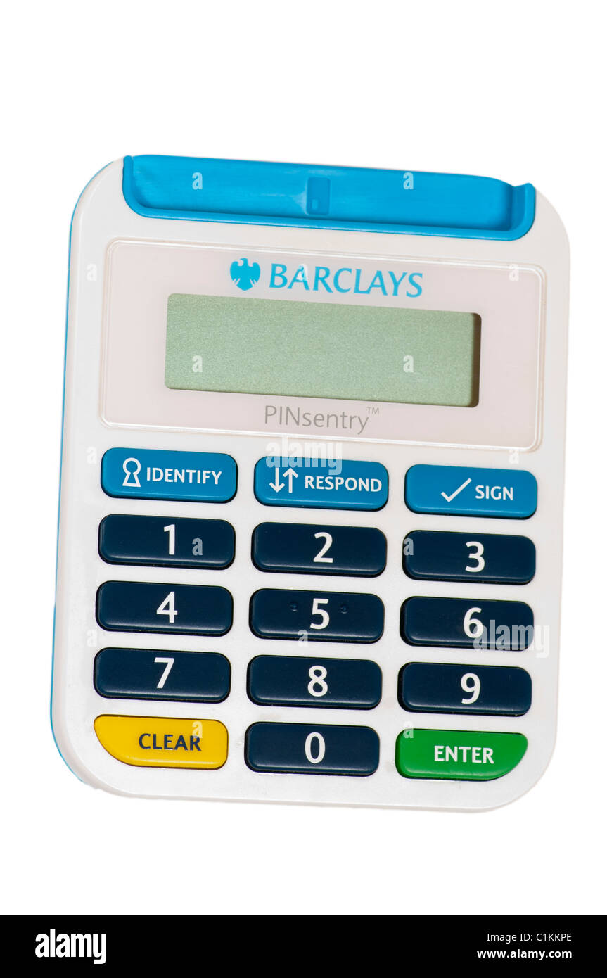 Barclays Online Banking Pinsentry Card Reader Stock Photo