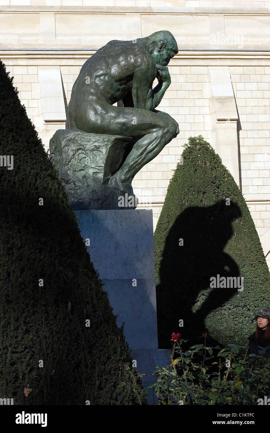 France, Paris, Rodin Museum, Varenne Street, thinker - Stock Image