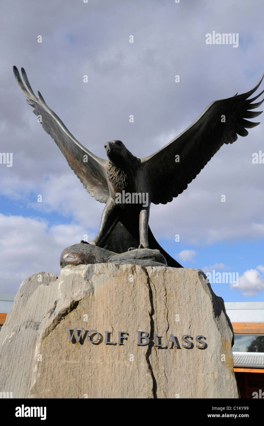 The famous Eagle symbol at the Wolf Blass wine estate visitor centre in the Barossa Valley, South Australia - Stock Image