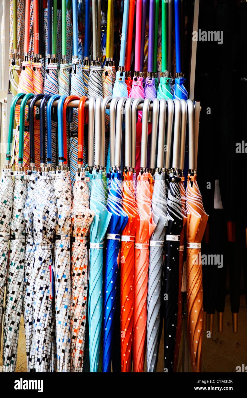 Umbrellas for sale in Kobe, Japan - Stock Image