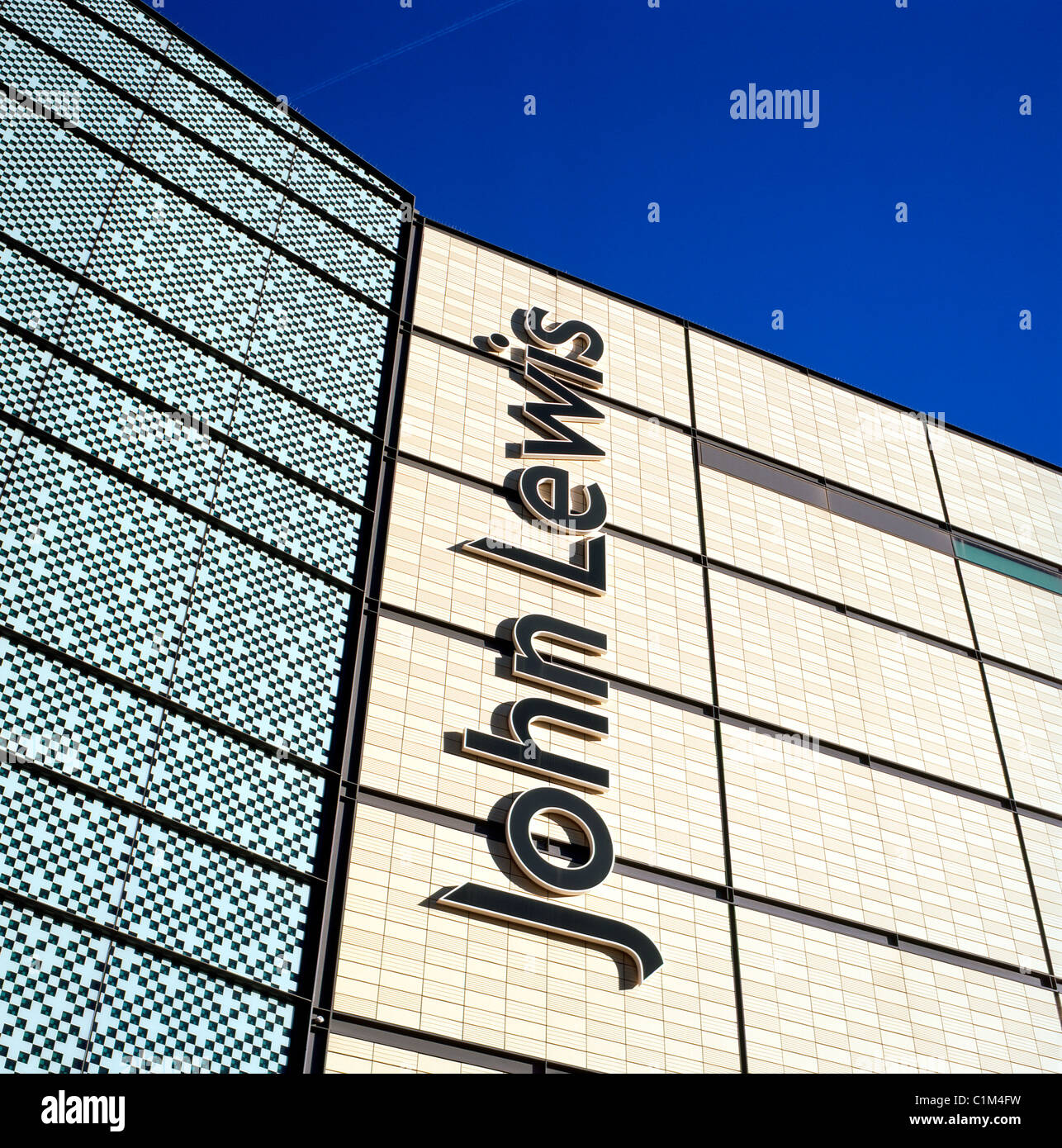 Exterior view of new John Lewis Department Store building and sign in Cardiff City Centre, Wales UK    KATHY DEWITT - Stock Image