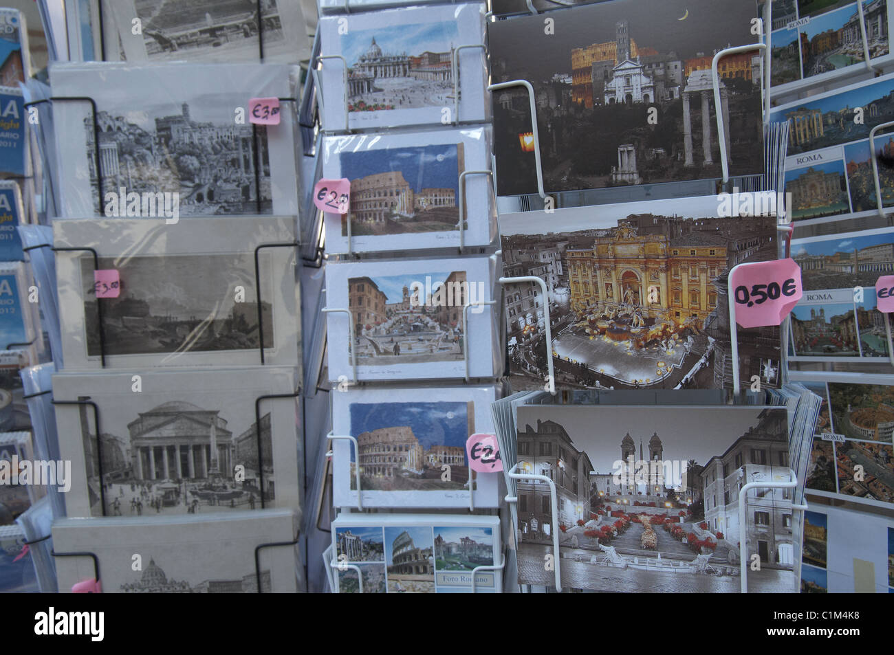 Postcards of Rome Roma - Stock Image