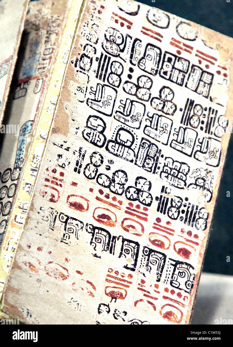 Mayan Writing Anthropological Museum Mexico City - Stock Image