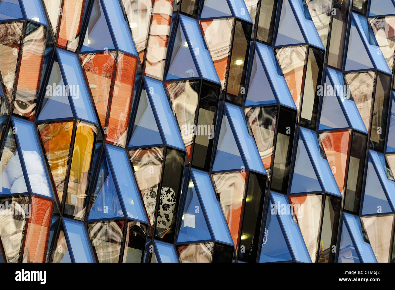 Abstract Building Detail, Oxford Street, London, England, UK - Stock Image