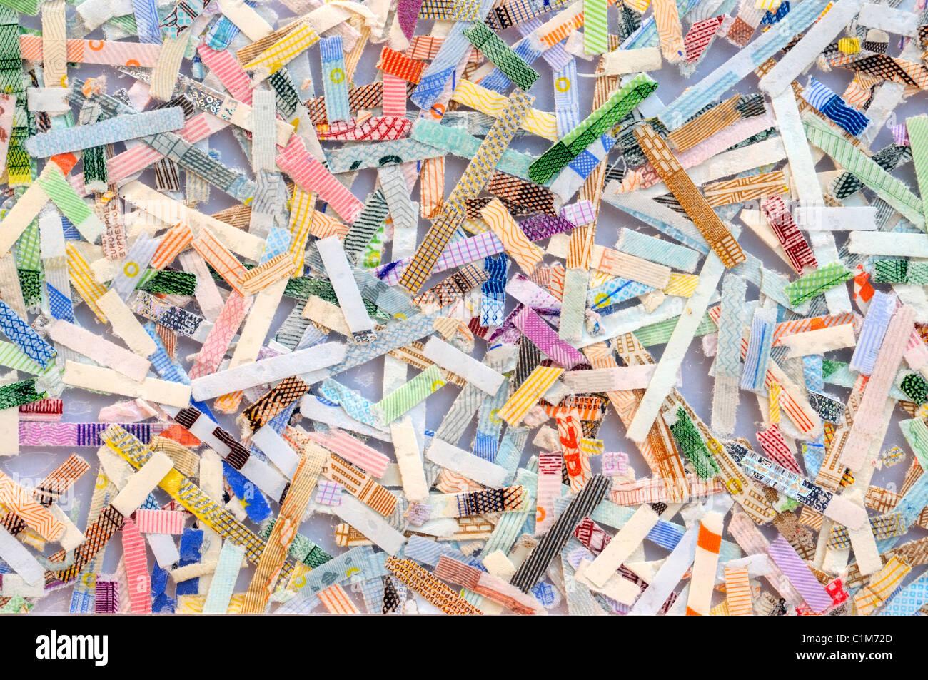 Shredded Euro Banknotes. - Stock Image