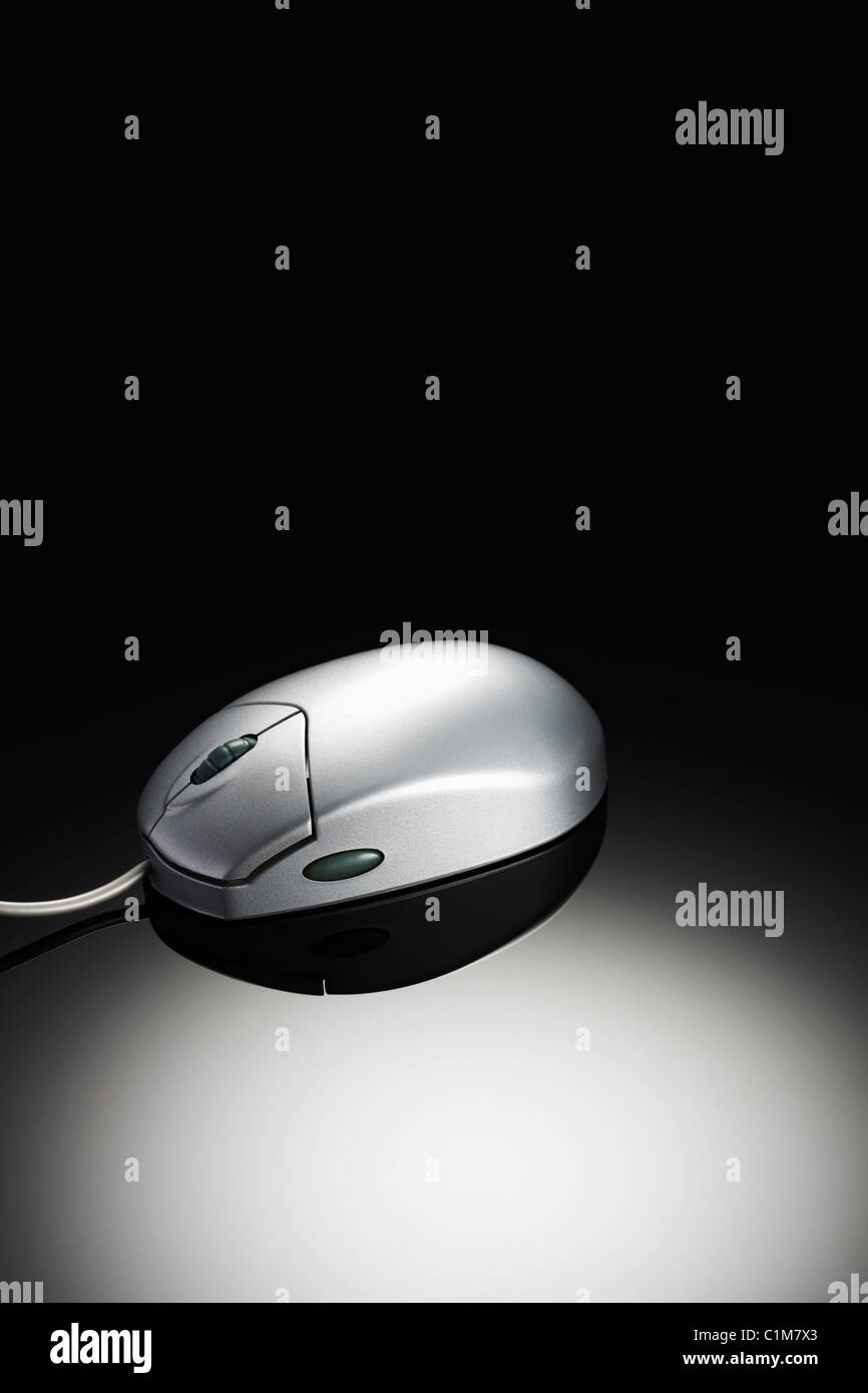 Silver Computer Mouse - Stock Image