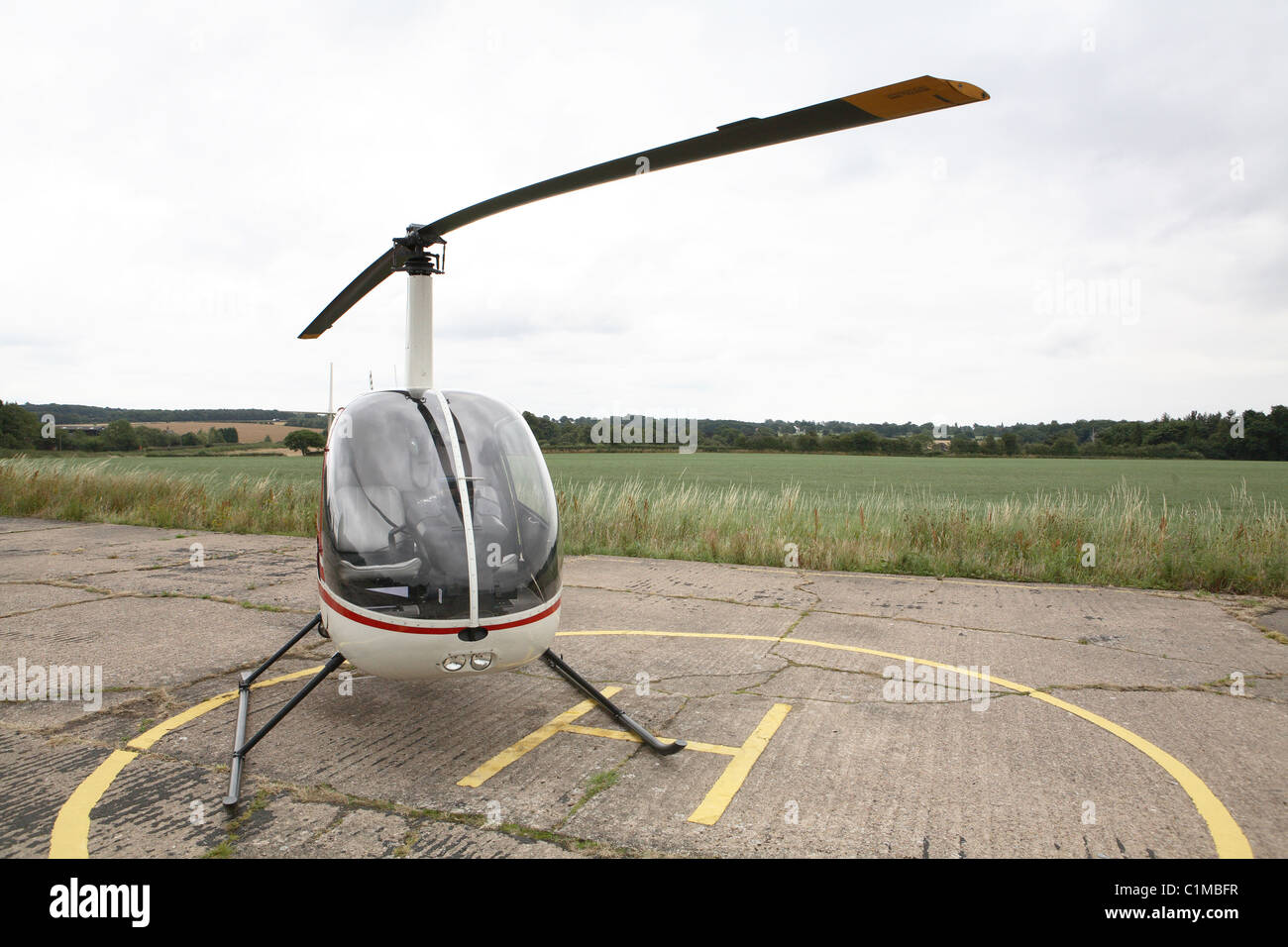 Robinson R22 Helicopter - Stock Image