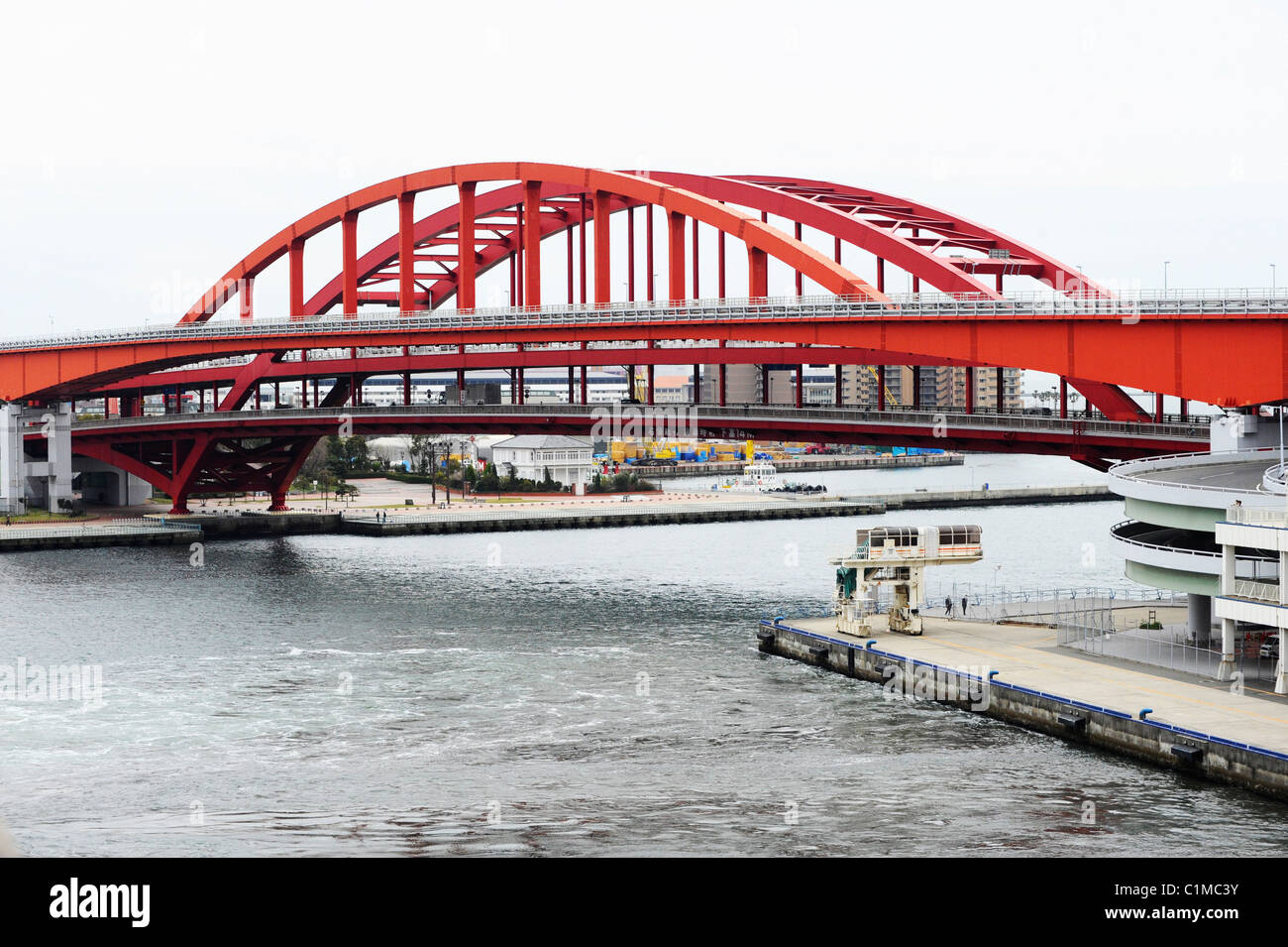 Bridge at the Port of Kobe, Japan - Stock Image