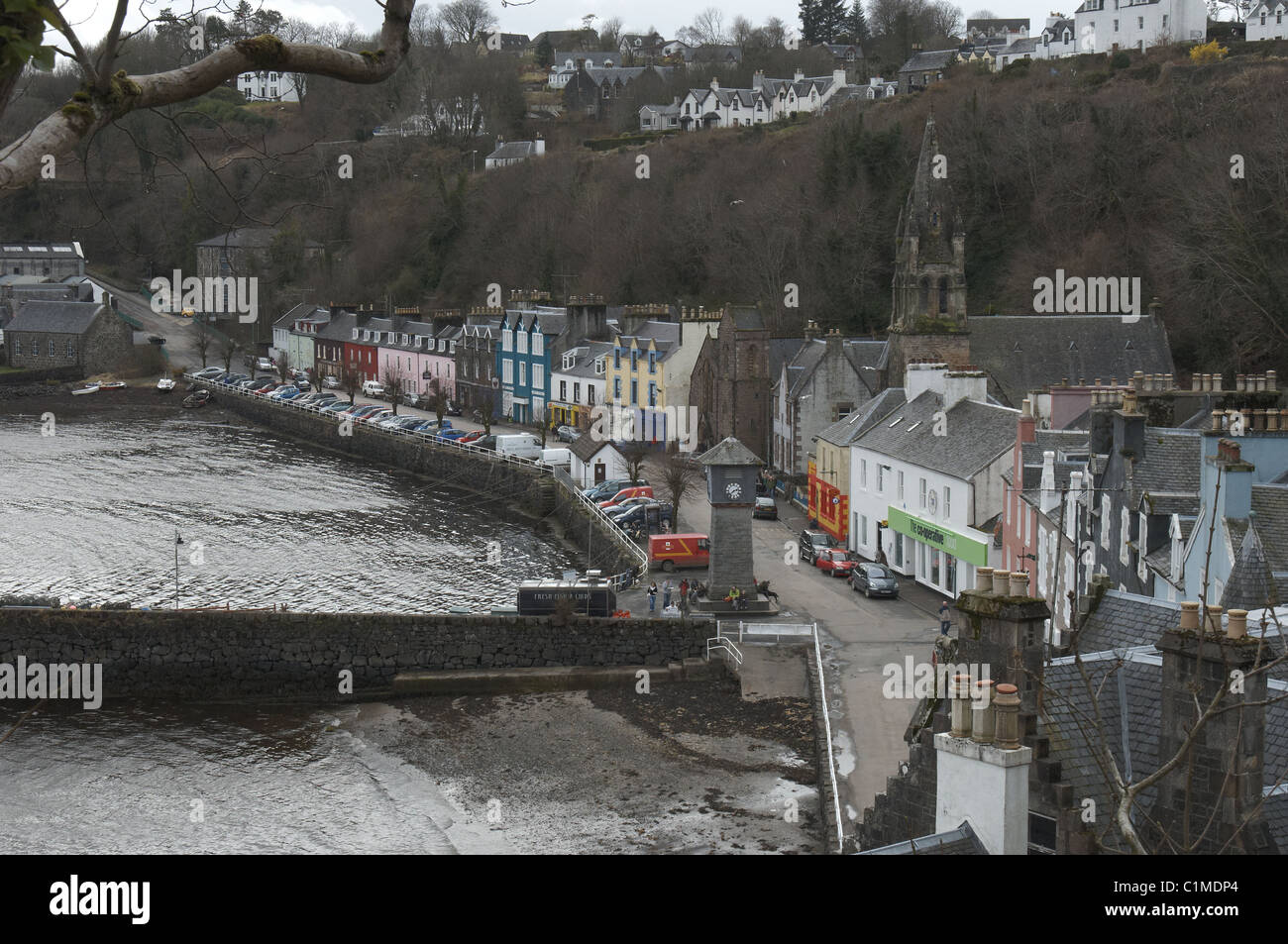 Scotland - Tobermory harbour - Stock Image