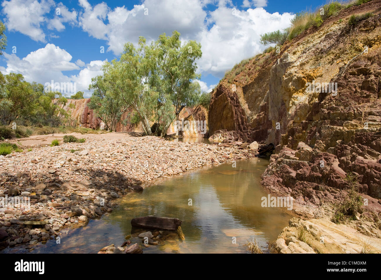 The ochre pits in the Western MacDonnell National Park, Australia - Stock Image