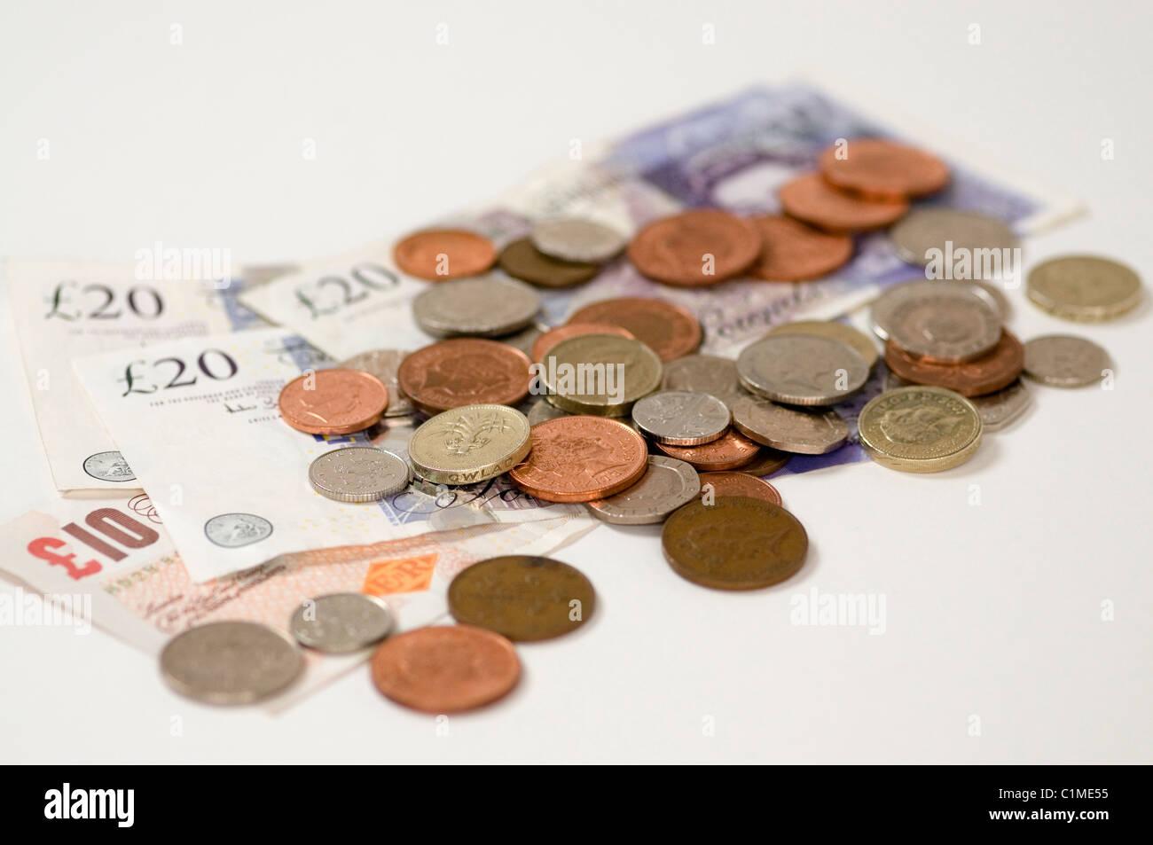United Kingdom English Money - Stock Image