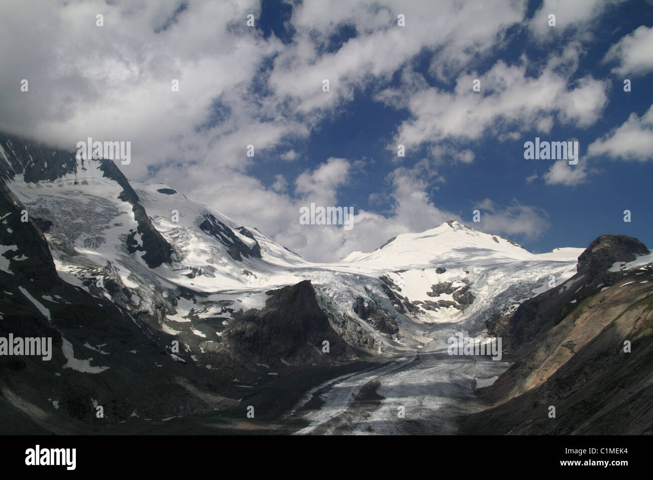 The Pasterze Glacier (is the longest glacier in Austria) at the Hohe Tauern National Parc Carinthia, Austria Stock Photo