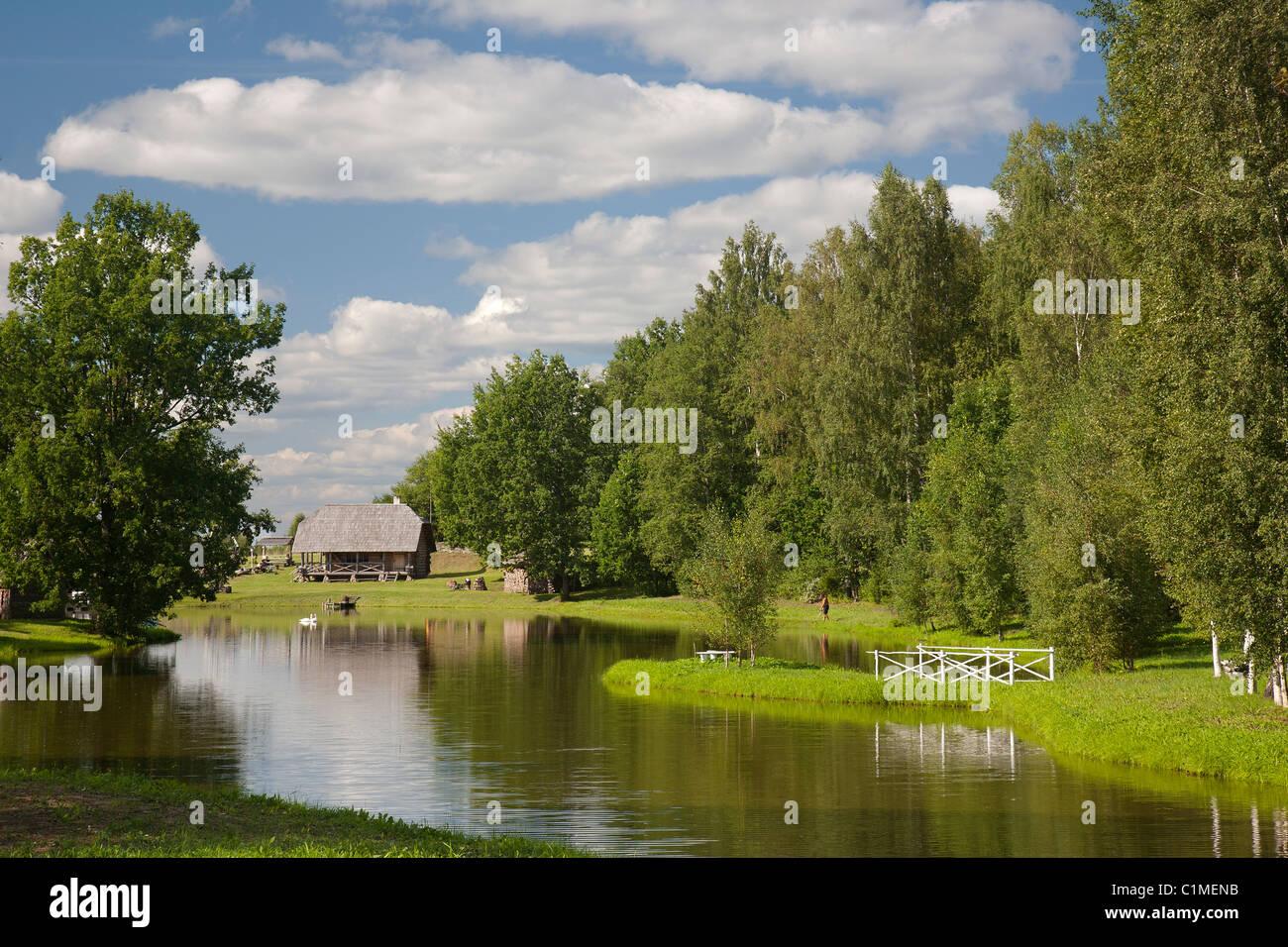 Old Farmstead in Võru County, Estonia - Stock Image