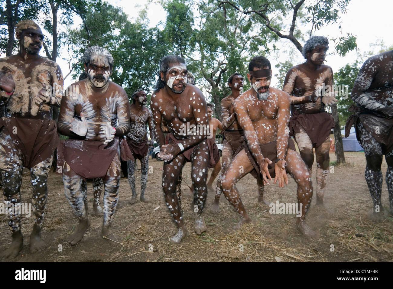 Indigenous dance. Laura, Queensland, Australia - Stock Image