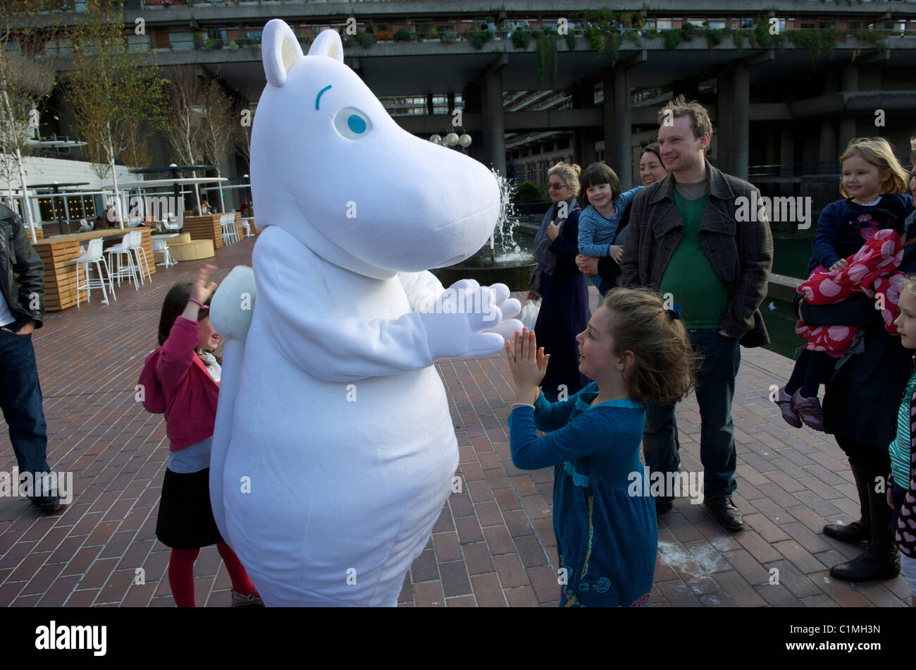 The Opening Gala of The London Children's Film Festival began with a Moomins-themed Finnish Breakfast Party.30th - Stock Image
