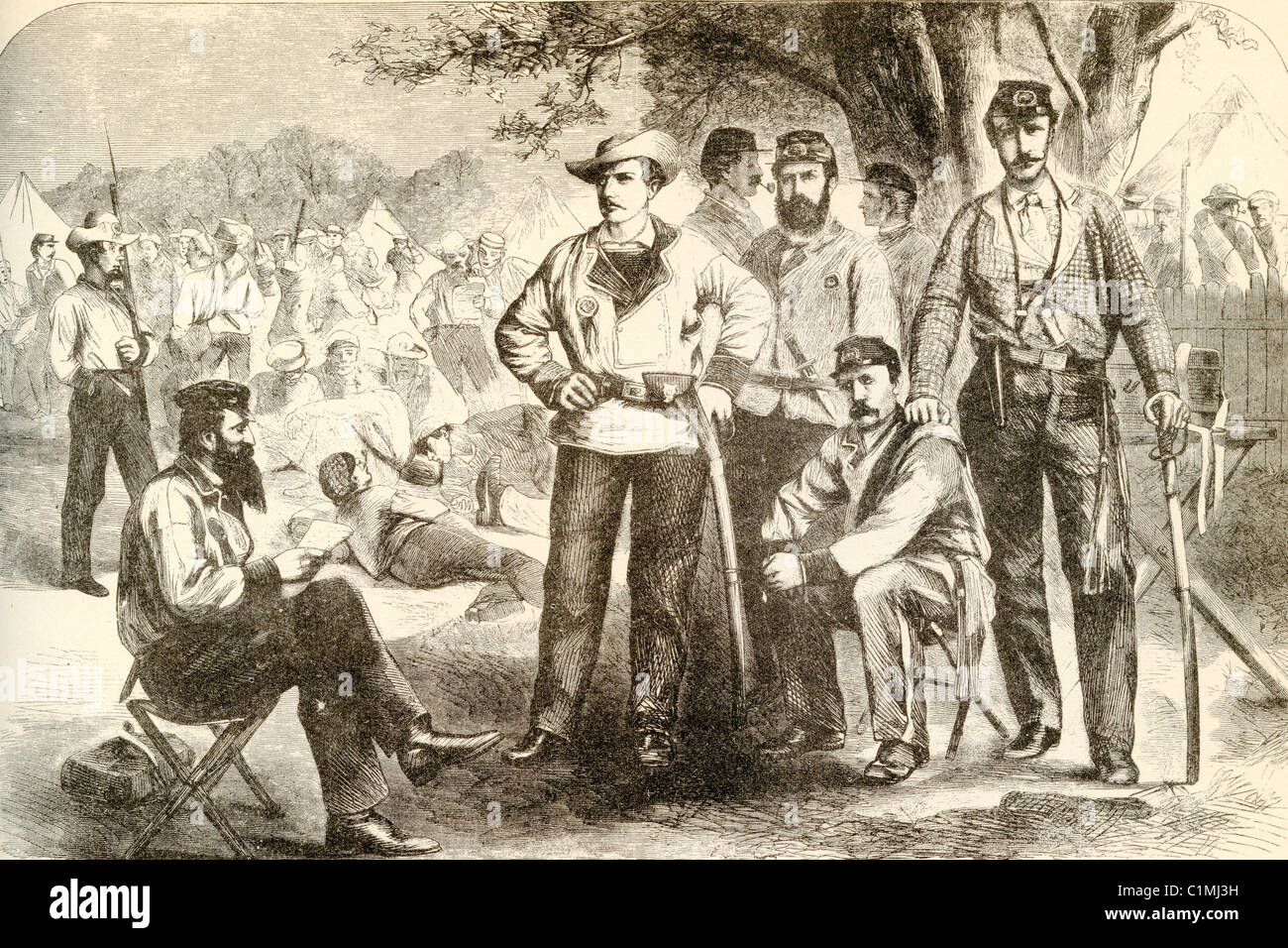 Old lithograph of american civil war soldiers stock photo 35488645 old lithograph of american civil war soldiers altavistaventures Gallery