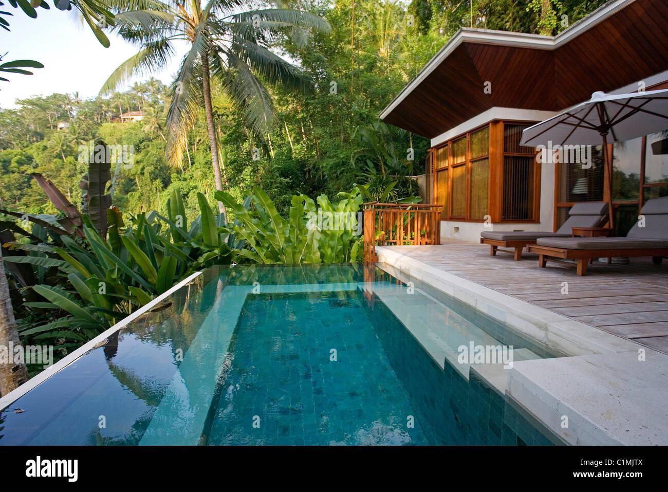 Indonesia Bali Luxury Hotel Four Seasons In Sayan Near Ubud Stock Photo Alamy