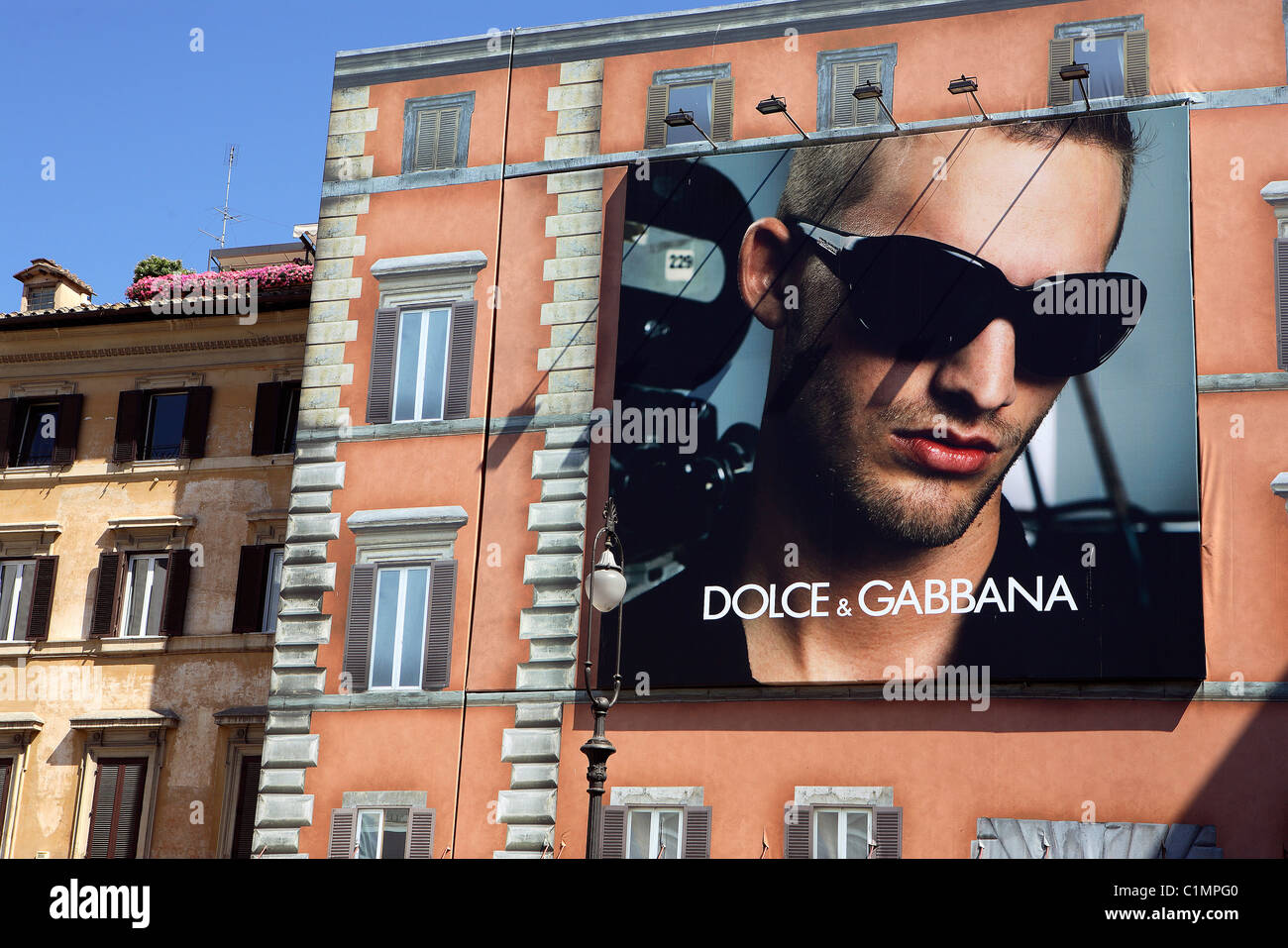 Italy, Lazio, Rome, Dolce et Gabbana advertising - Stock Image