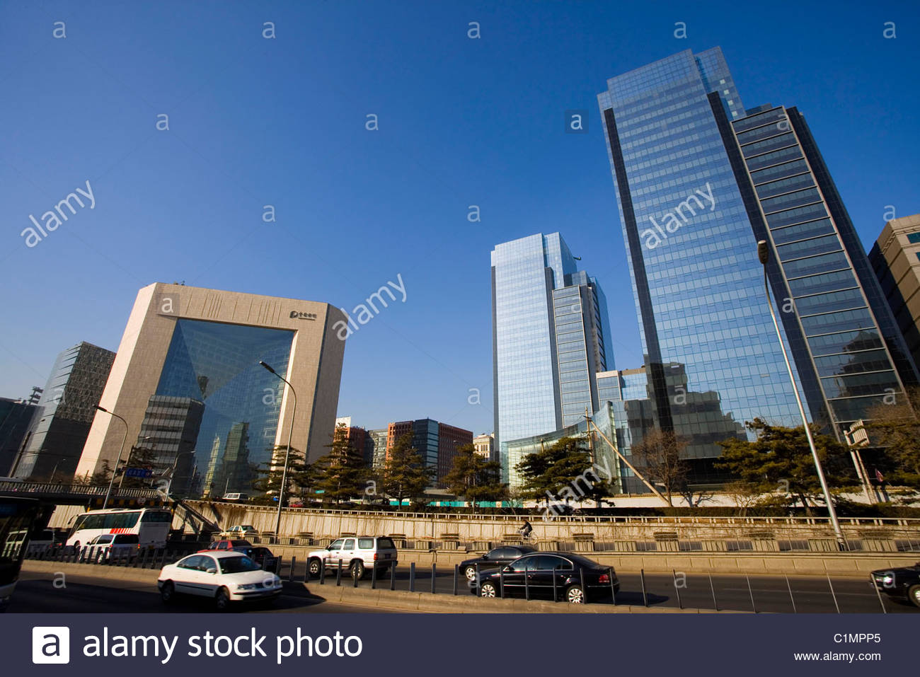 Beijing City, New Poly Plaza, Dongcheng District, China Stock Photo