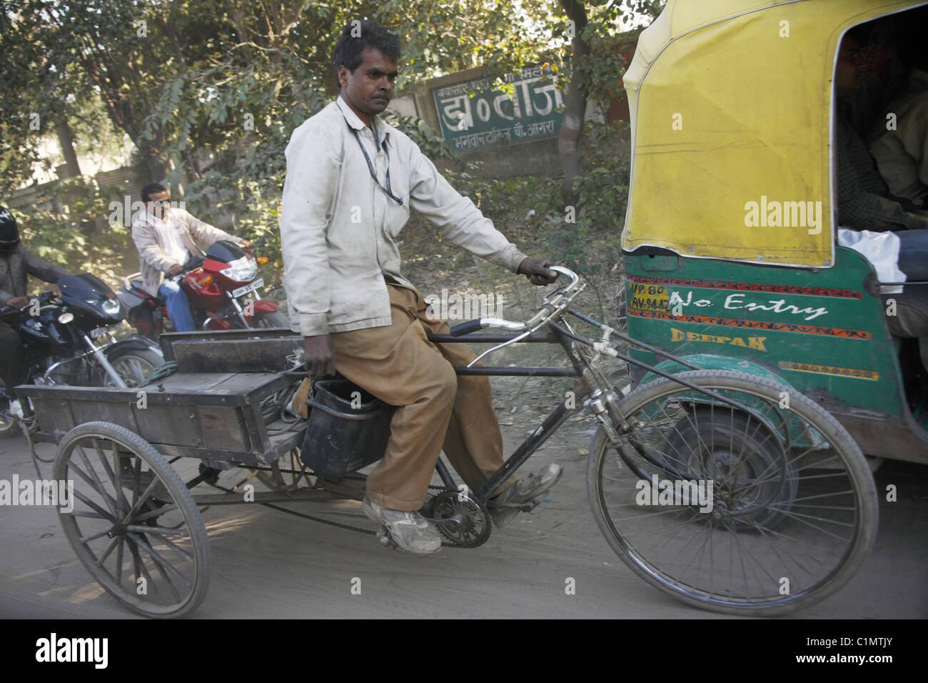 IND, India,20110310, Rickshaw - Stock Image