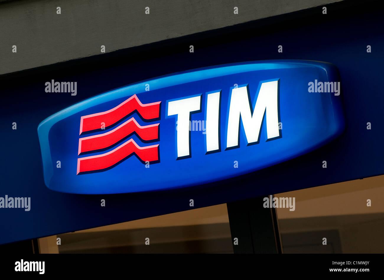 tim telecommunications - Stock Image