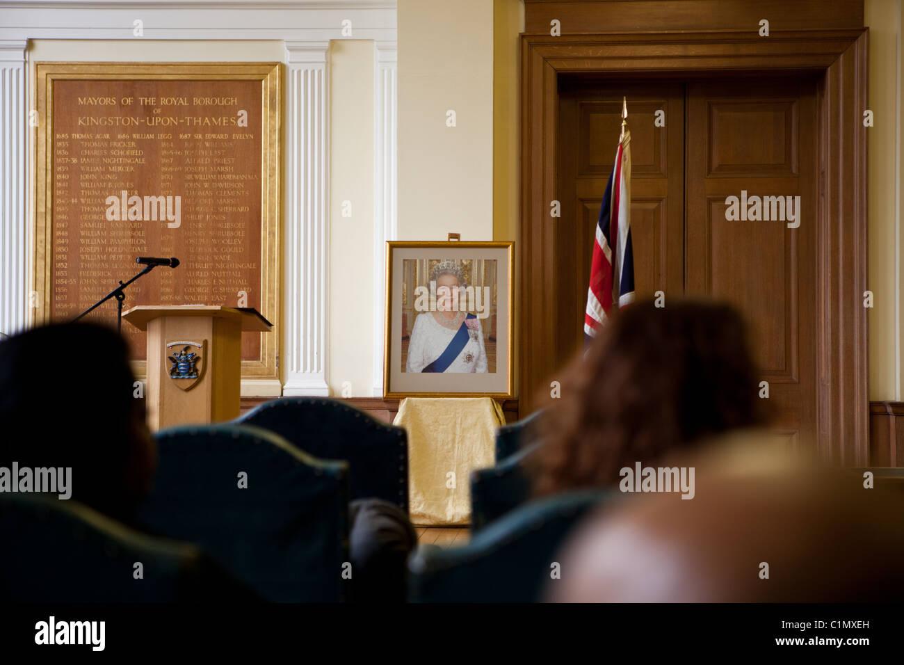 British Citizenship Ceremony - Stock Image