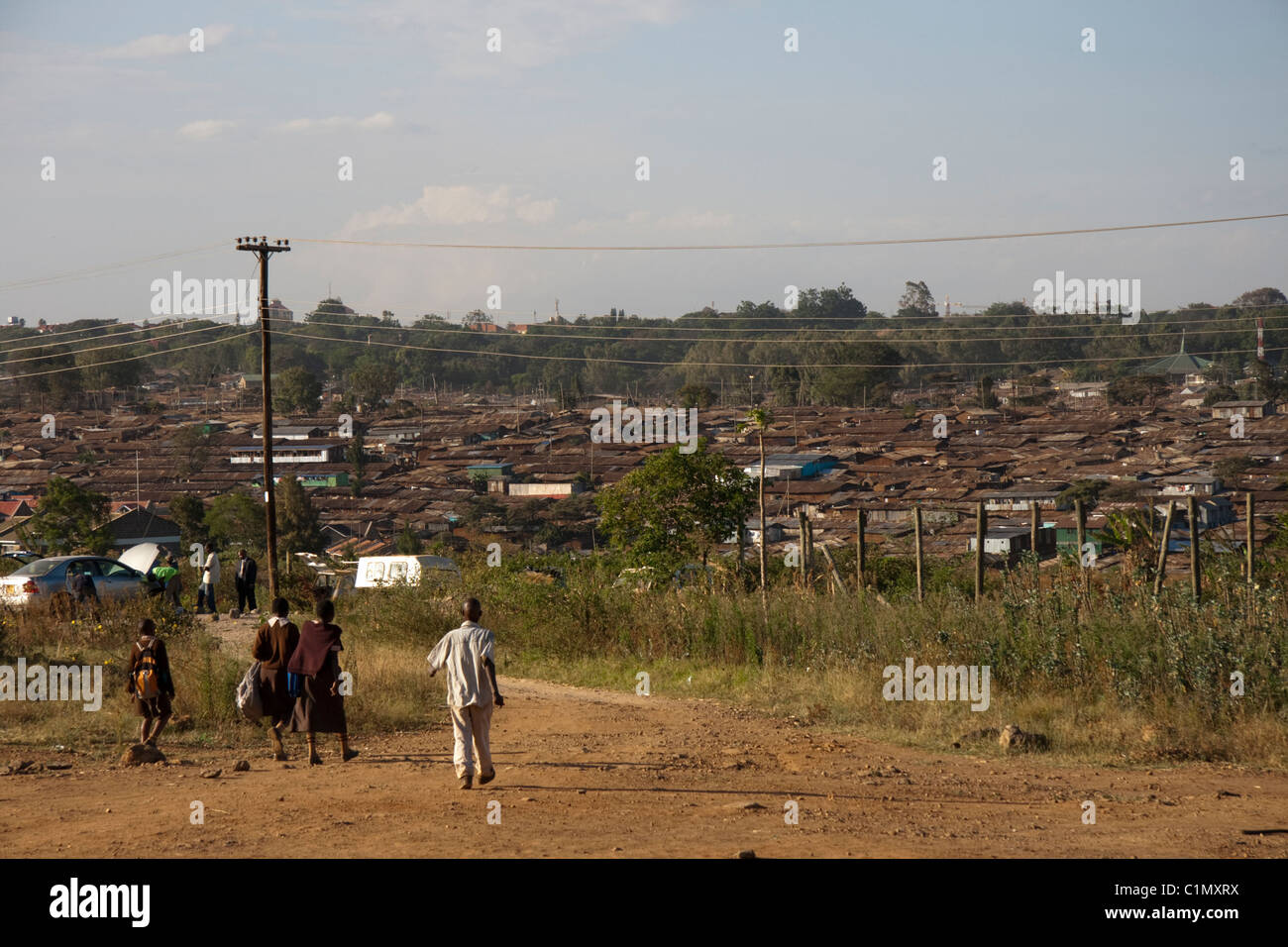 Slums in Nairobi, Kenya - Stock Image
