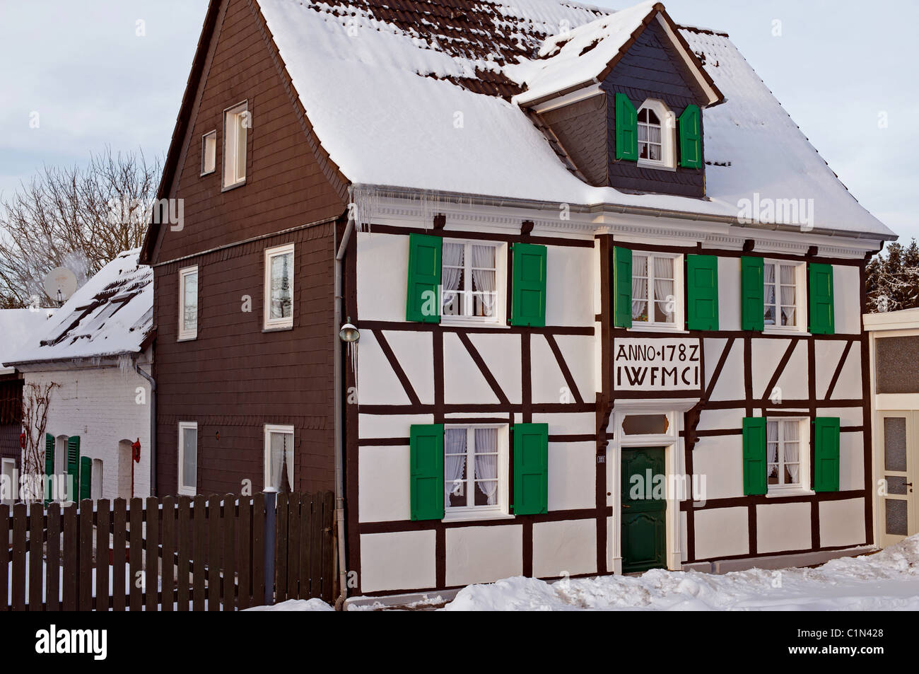 Traditional German wood framed house - Stock Image