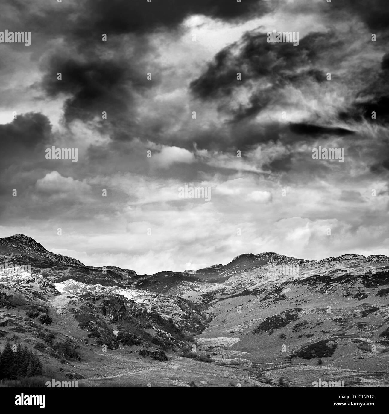 Hilly landscape - Stock Image