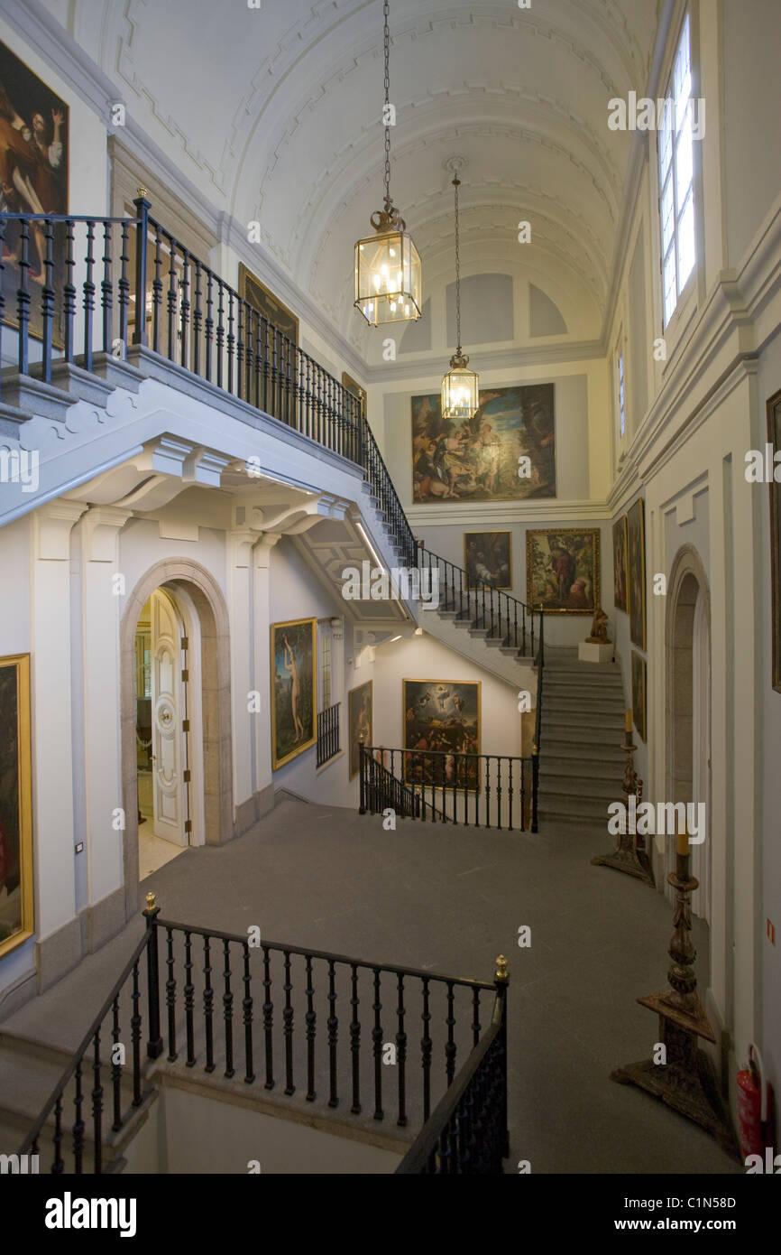 Madrid, Real Academia de bellas Artes de San Fernando, Treppenhaus - Stock Image