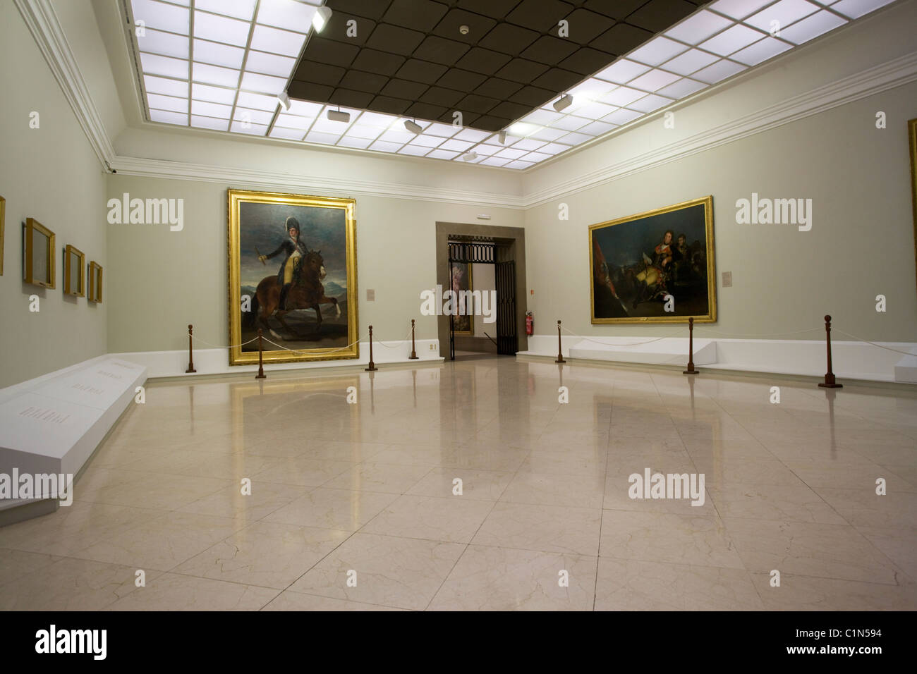 Madrid, Real Academia de bellas Artes de San Fernando, Ausstellungssaal - Stock Image