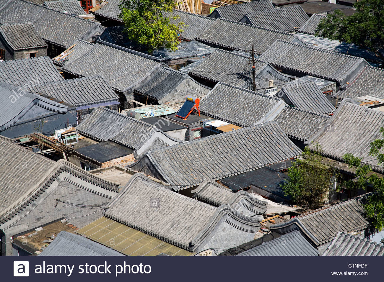 Beijing City, Hutong, Dongcheng District, China - Stock Image