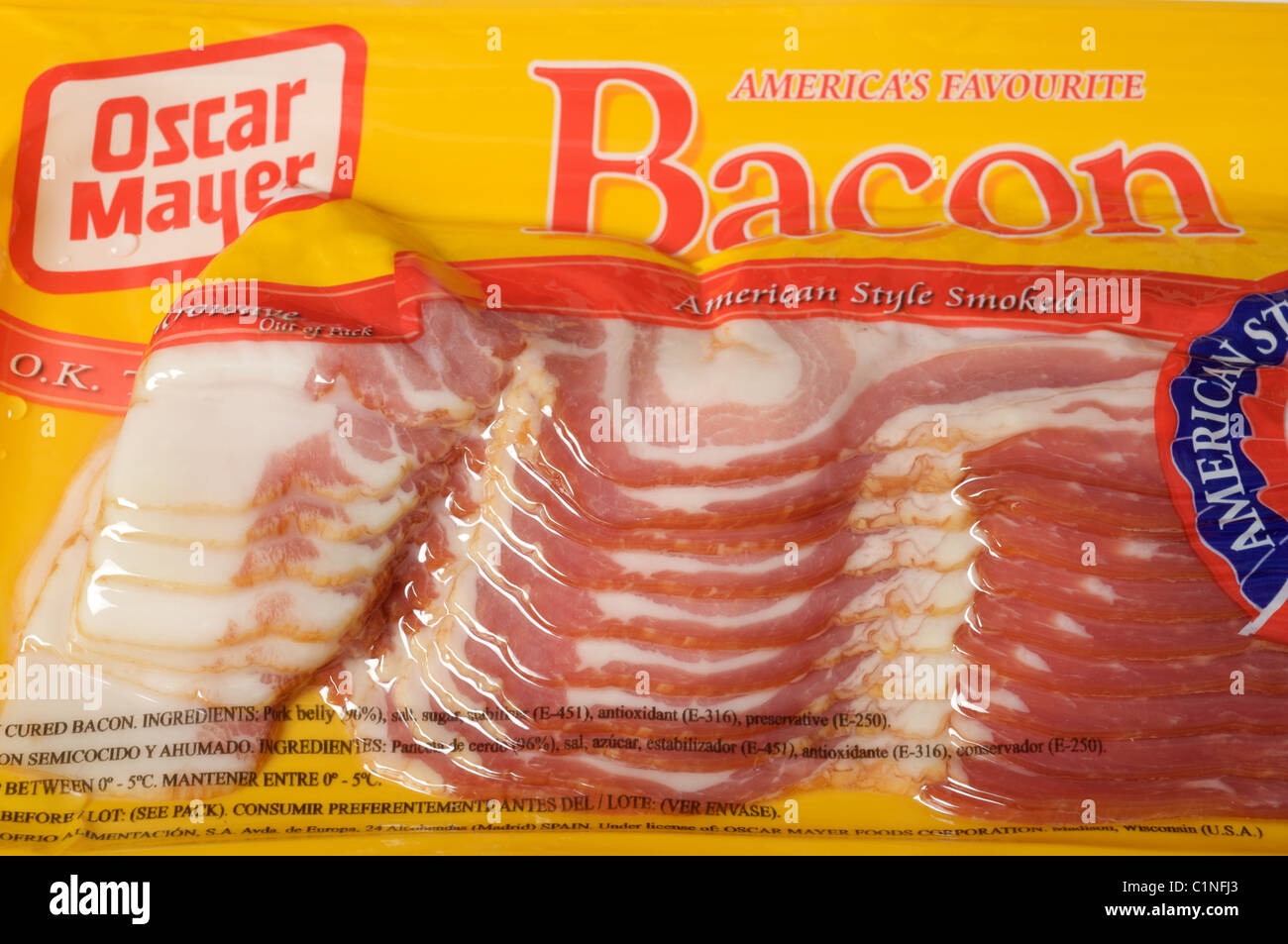 Oscar Mayer American bacon - Stock Image