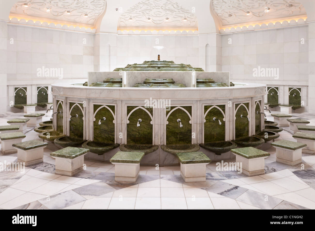 Exterior: Ablution Fountains And Baths In The The Sheikh Zayed Grand