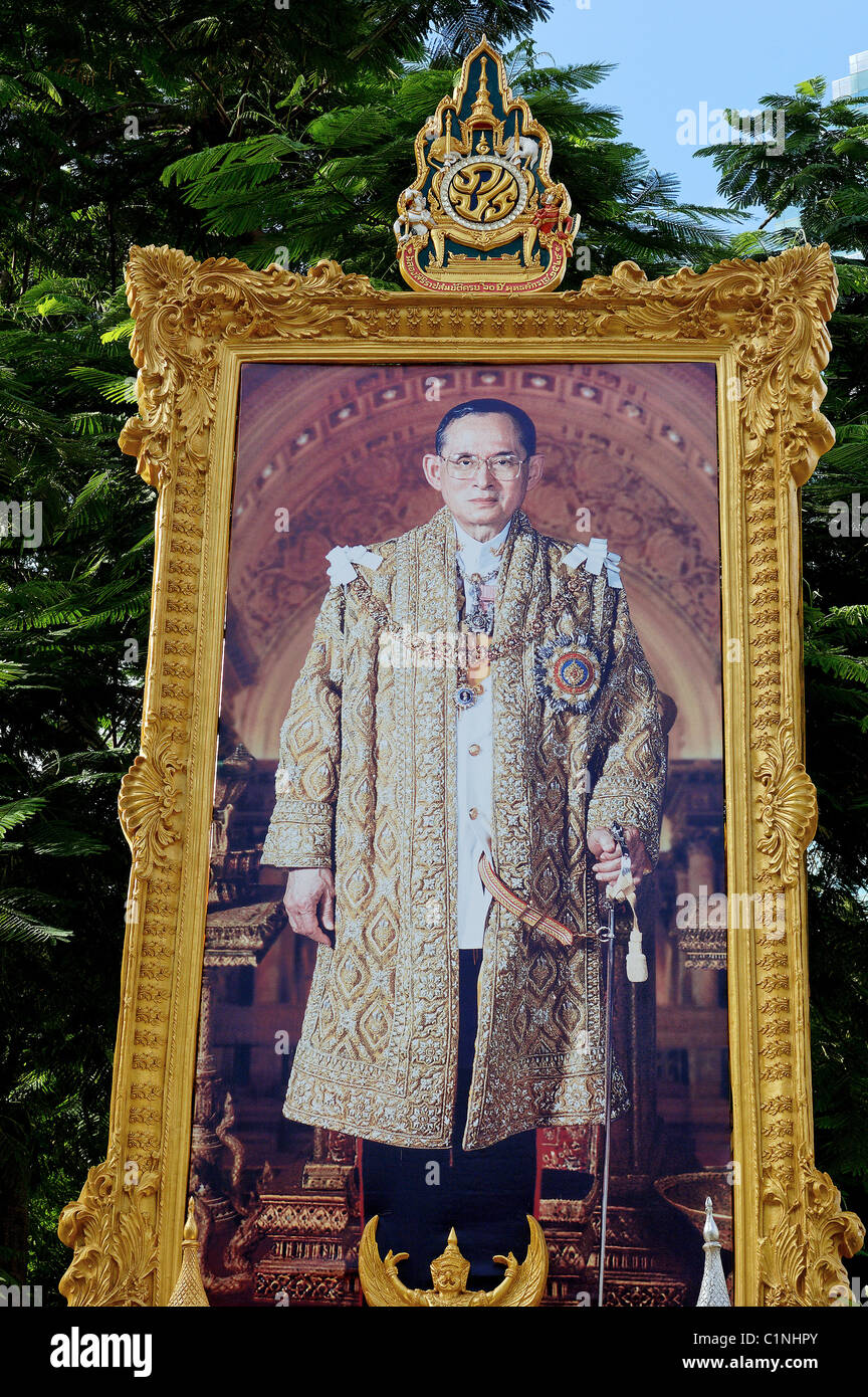 Thailand, Bangkok, king Bhumibol Rama IX (the world's longest serving monarch) - Stock Image