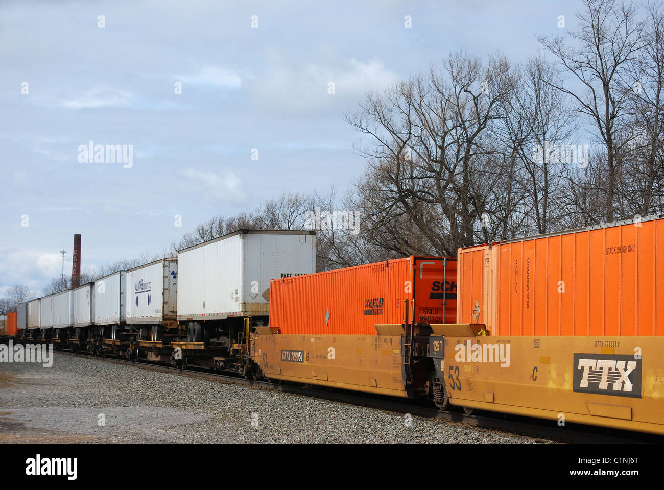 Csx Freight Train Cars Stock Photo 35510688 Alamy