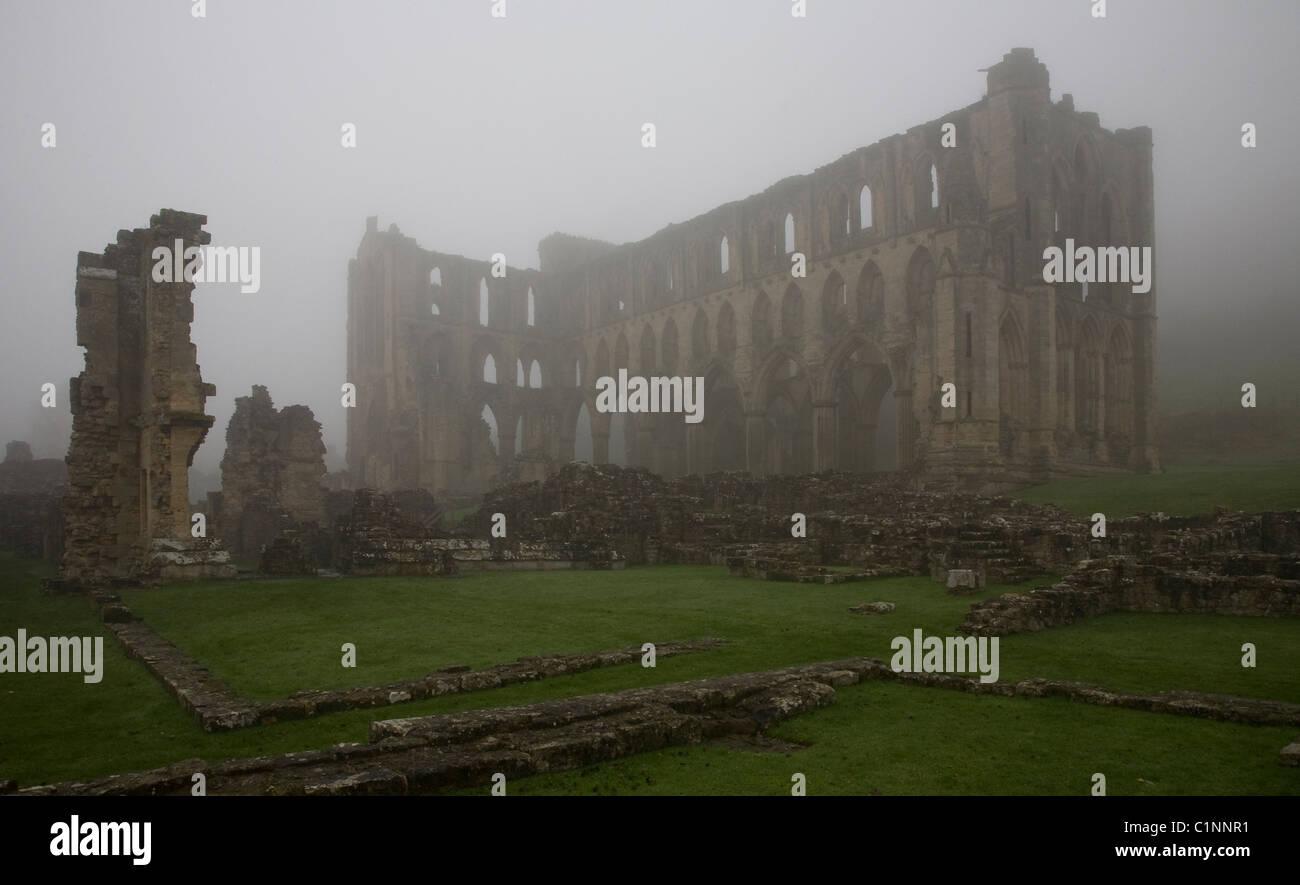 Rievaulx Abbey, Klosterruine - Stock Image