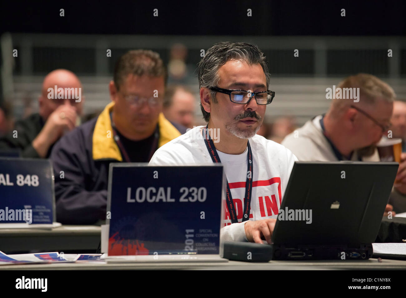 United Auto Workers Collective Bargaining Convention - Stock Image