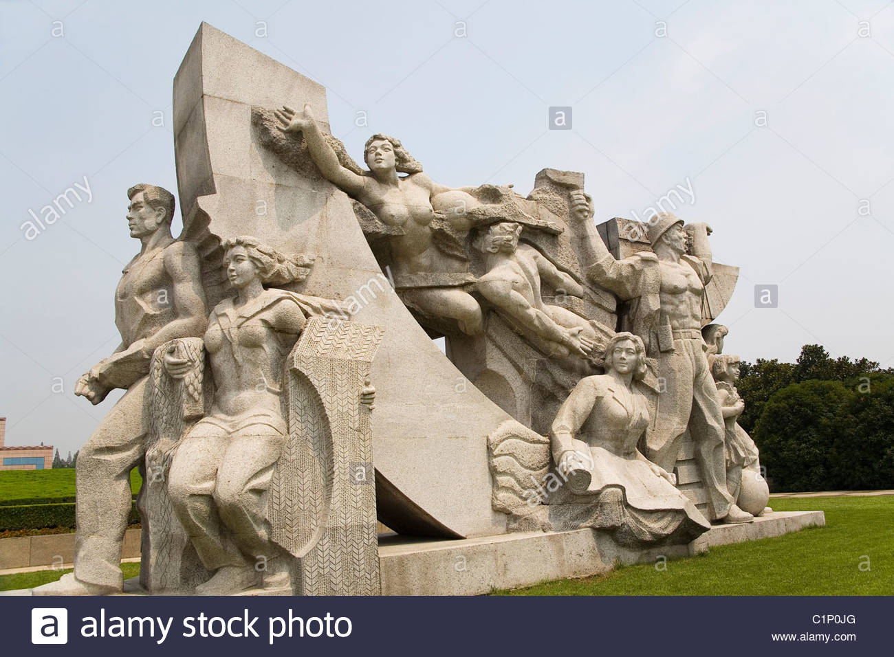 Shanghai, Longhua Martyrs Cemetery, China - Stock Image
