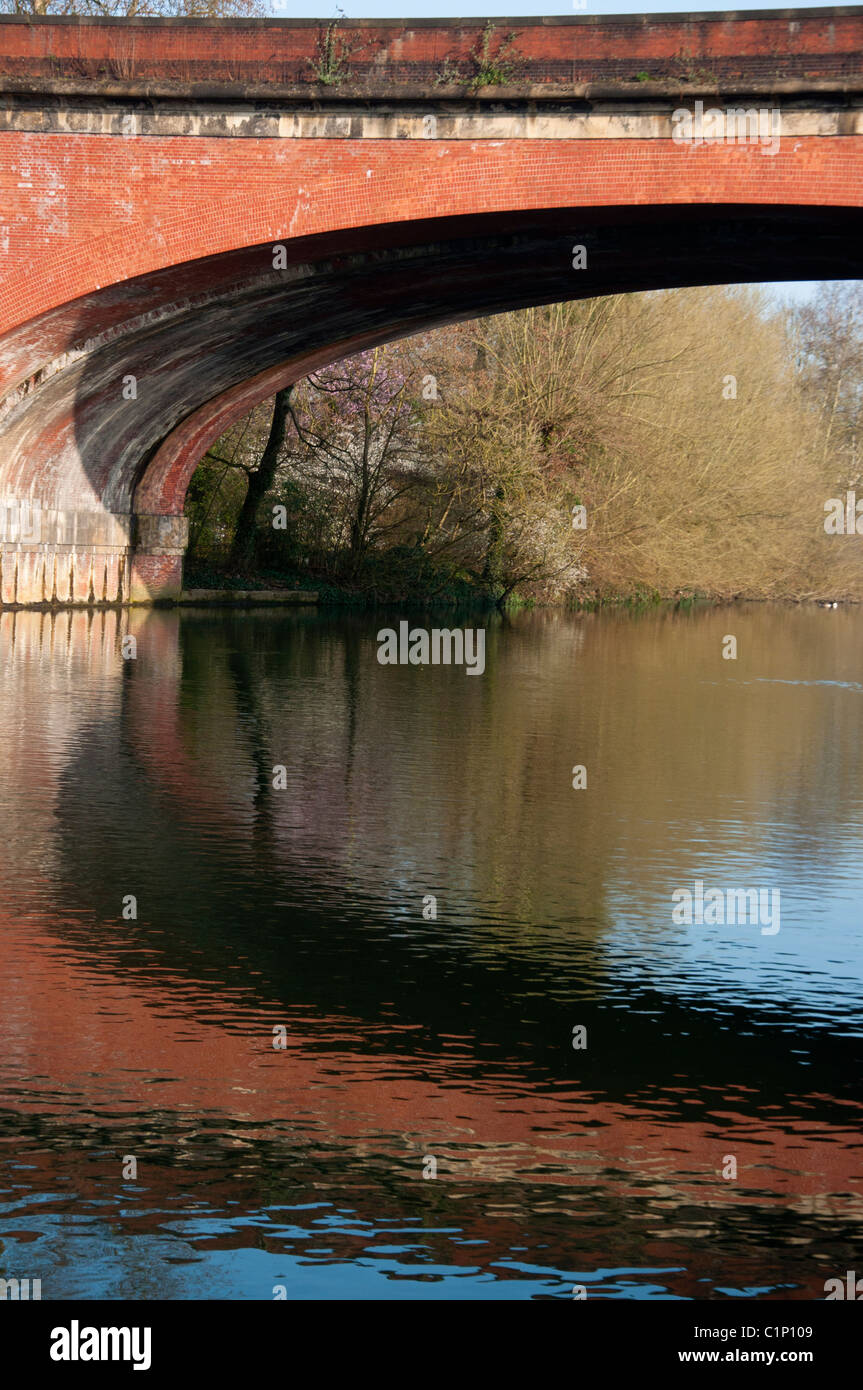 Isambard Kingdom Brunel's Railway Bridge at Maidenhead. England. Stock Photo