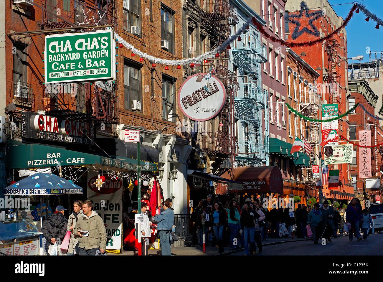 Little Christmas Italy.United States New York City Manhattan Little Italy