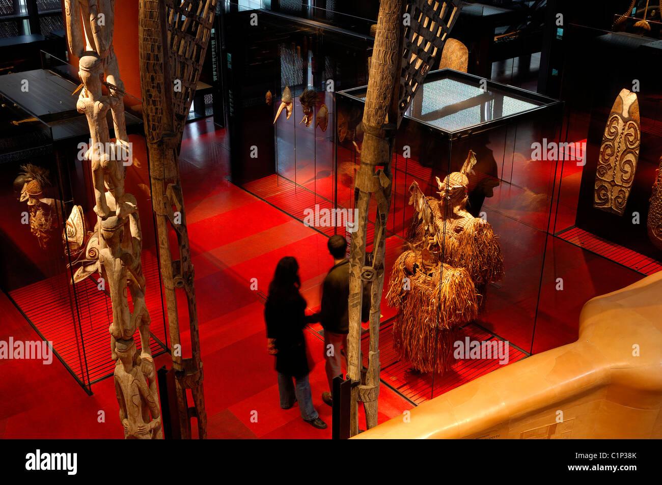 France, Paris, Musee du quai Branly, collections area - Stock Image