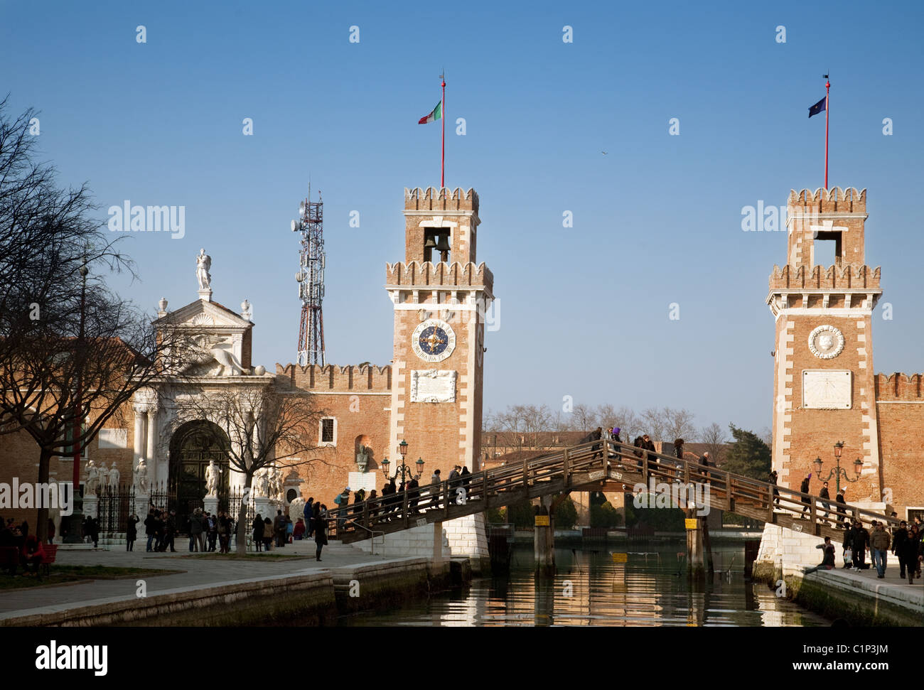 The bridge at Arsenale, Venice Italy - Stock Image