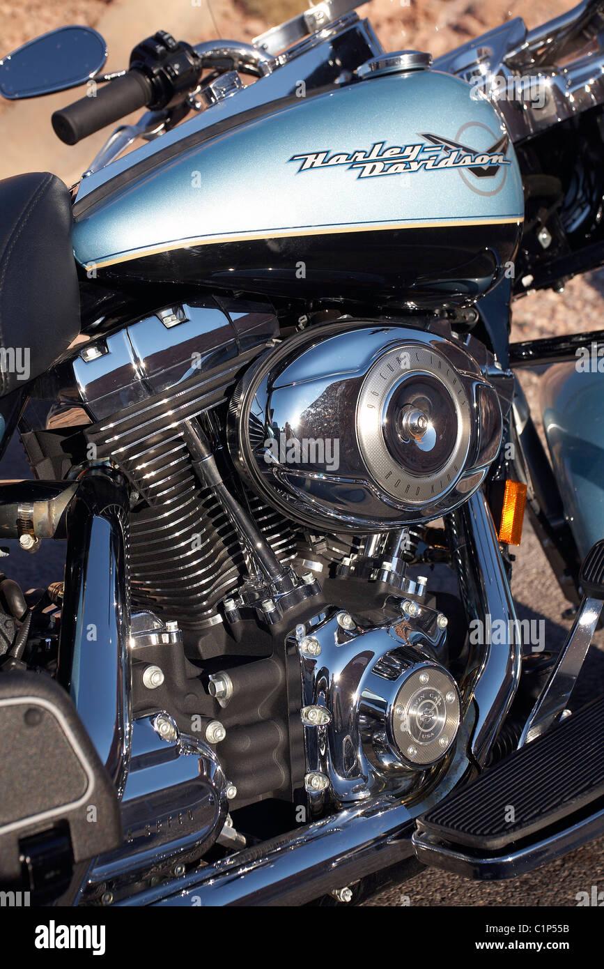 United States, Nevada, Las Vegas, Harley Davidson motorcycle - Stock Image