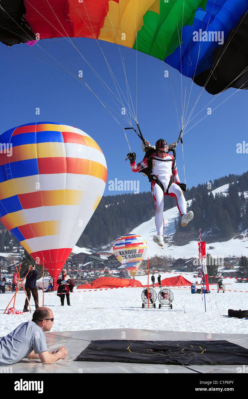 France, Savoie, Les Saisies, 26th aerial games - Stock Image