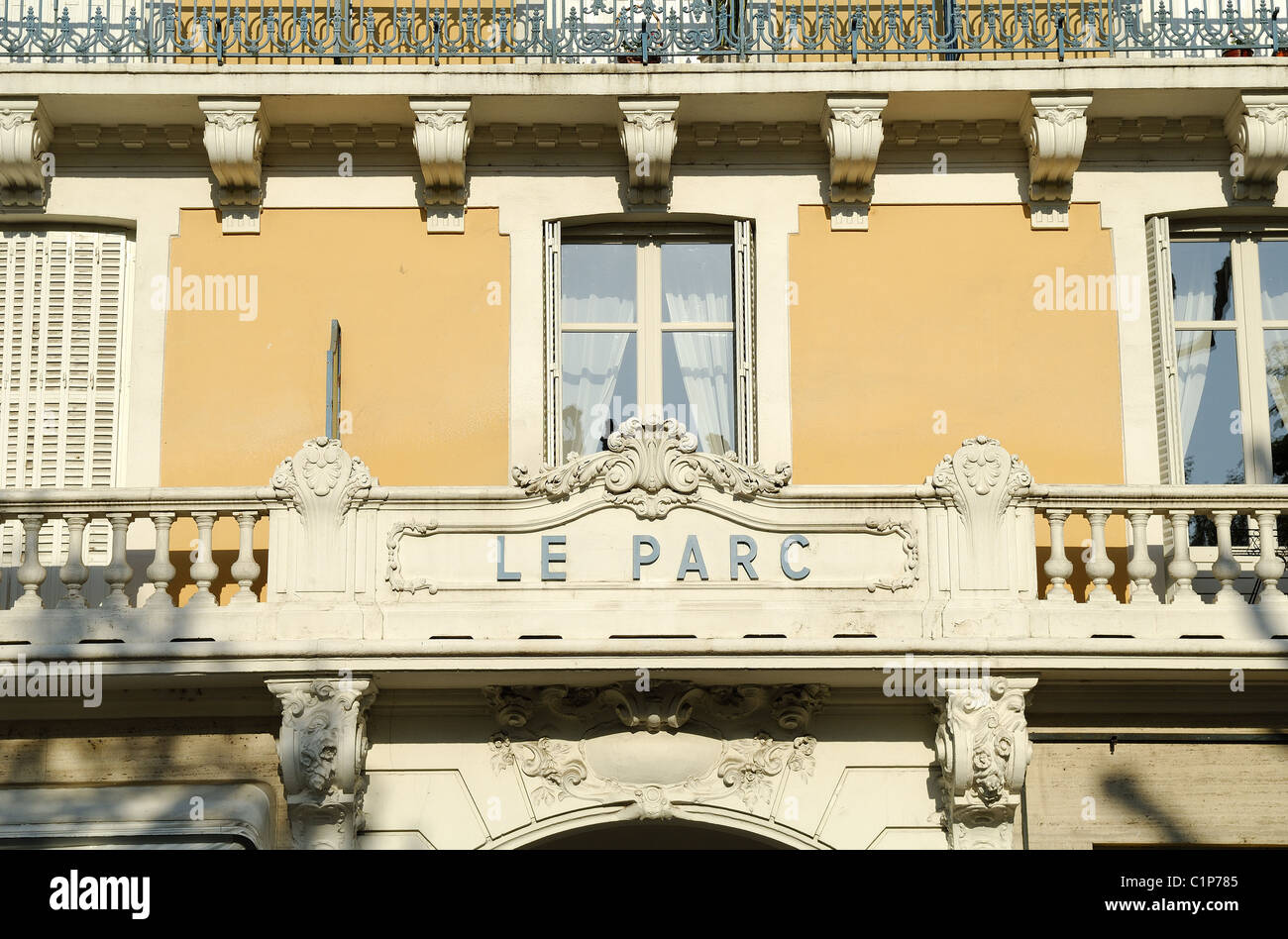 France, Allier, Vichy, Parc hotel used to be the address of the French chief of state, Philippe Petain, during the - Stock Image